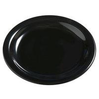 Carlisle 4385603 Black Dayton 5 5/8 inch Melamine Bread & Butter Plate - 48 / Case