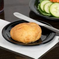 Carlisle 4385603 Black Dayton 5 5/8 inch Melamine Bread & Butter Plate - 48/Case