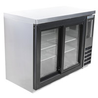 Beverage-Air BB48HC-1-GS-S-27 48 inch SS Back Bar Refrigerator with Sliding Glass Doors and Stainless Steel Top - 115V