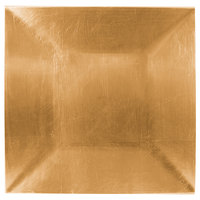 Tabletop Classics TRG-6670 13 inch Gold Square Polypropylene Charger Plate