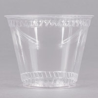 Fabri-Kal Greenware GC9OF 9 oz. Customizable Compostable Clear Plastic Squat Cold Cup - 50/Pack