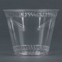 Fabri-Kal Greenware GC9OF 9 oz. Customizable Compostable Clear Plastic Squat Cold Cup - 50 / Pack