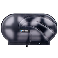 San Jamar R4090TBK Twin Oceans 9 inch Double Roll Jumbo Toilet Tissue Dispenser - Black Pearl