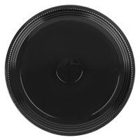 WNA Comet A516PBL Caterline Casuals 16 inch Black Round Catering Tray - 25/Case
