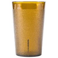 9.5 oz. Amber SAN Plastic Pebbled Tumbler - 12/Pack