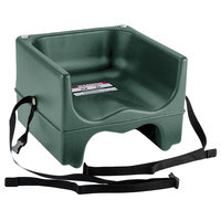 Cambro 200BCS519 Green Plastic Booster Seat - Dual Seat with Strap
