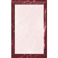 8 1/2 inch x 11 inch Burgundy Menu Paper - Angled Marble Border - 100/Pack