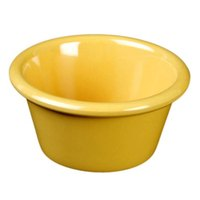 Thunder Group ML536YW1 Yellow 2.5 oz. Smooth Melamine Ramekin - 12/Case