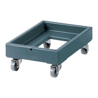 Cambro CD1313401 250 lb. Slate Blue Camdolly Milk Crate Dolly