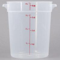 Cambro RFS4PP190 4 Qt. Translucent Round Storage Container