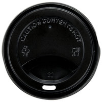 Choice 8 oz. Black Hot Paper Cup Travel Lid - 100/Pack