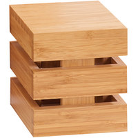 Cal-Mil 1944-6-60 Bamboo Square Crate Riser - 6 inch x 6 inch x 6 inch