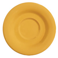 GET SU-3-TY Diamond Mardi Gras 5 1/2 inch Tropical Yellow Melamine Saucer for GET B-105, BC-70, BC-170, B-454, and C-107 Bowls and Mugs - 48/Case