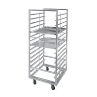 Channel 414A-DOR Double Section Side Load Aluminum Bun Pan Oven Rack - 20 Pan