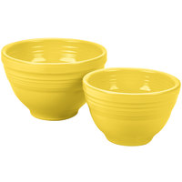 Homer Laughlin 867320 Fiesta Sunflower 2-Piece Prep Baking Bowl Set - 2/Case