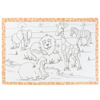 Hoffmaster 310690 10 inch x 14 inch Kids Jungle Fun Design Placemat - 1000/Case