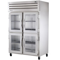 True STR2H-4HG Specification Series Two Section Reach In Heated Holding Cabinet with Four Glass Half Doors