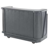 Cambro BAR650191 Granite Gray Cambar 67 inch Portable Bar with 7-Bottle Speed Rail