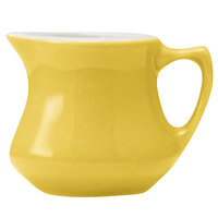 Hall China 30196W320 Sunflower 5.5 oz. Empire Creamer - 24/Case