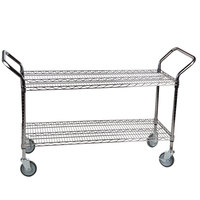 "Regency 24"" x 48"" Two Shelf Chrome Heavy Duty Utility Cart"