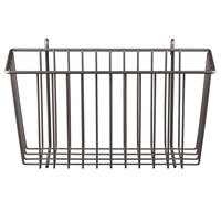 Metro H209-DCH Copper Hammertone Storage Basket for Wire Shelving 13 3/8 inch x 5 inch x 7 inch