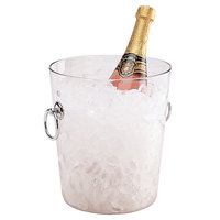 Cambro WC100CW135 4.375 Qt. Clear Customizable Polycarbonate Wine Bucket with Handles