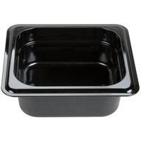 Carlisle 3088303 StorPlus 1/6 Size Black High Heat Food Pan - 2 1/2 inch Deep
