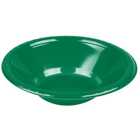 Creative Converting 28112051 12 oz. Emerald Green Plastic Bowl   - 20/Pack