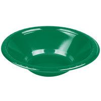 Creative Converting 28112051 12 oz. Emerald Green Plastic Bowl - 20/Pack