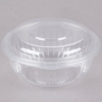 Dart C32HBD PresentaBowls 32 oz. Clear Hinged Plastic Bowl with Dome Lid - 150/Case