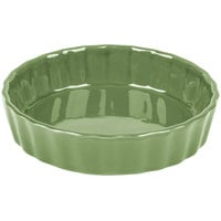 CAC QCD-5GRE Festiware 5 inch Green Fluted China Quiche Dish - 24/Case