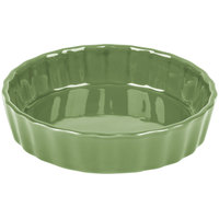 CAC QCD-5GRE Festiware Fluted Quiche Dish 5.5 oz. - Green - 24/Case