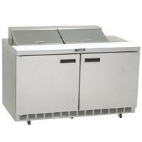 Delfield 4464N-12 64 inch 2 Door Refrigerated Sandwich Prep Table