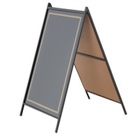 24 inch x 36 inch Black A-Frame Sidewalk Sign Board Kit RMBA-2436-B