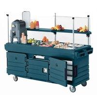 Cambro KVC854192 CamKiosk Granite Green Customizable Vending Cart with 4 Pan Wells