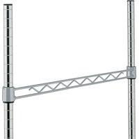 Metro H114-DSH Silver Hammertone Hanger Rail 14 inch