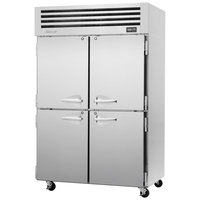 Turbo Air PRO-50-4R 52 inch Premiere Pro Series Solid Half Door Reach in Refrigerator
