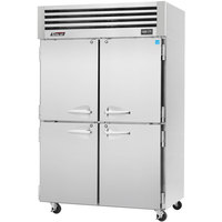 Turbo Air PRO-50-4R 52 inch Premiere Pro Series Two Section Solid Half Door Reach in Refrigerator - 49 Cu. Ft.