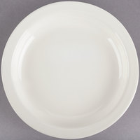 Choice 5 1/2 inch Ivory (American White) Narrow Rim Stoneware Plate - 36/Case