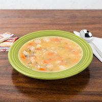 Homer Laughlin 451332 Fiesta Lemongrass 13.25 oz. China Rim Soup Bowl - 12/Case