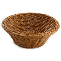 GET WB-1501-H 9 1/2 inch x 3 1/2 inch Designer Polyweave Honey Round Basket - 12/Case