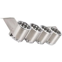 Steril-Sil UB-4 Four Hole Stainless Steel Under Bar Flatware Cylinder Holder