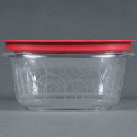 Rubbermaid 7H77 5 Cup Clear Square Premier Storage Container with Chili Red Lid (FG7H77TRCHILI)