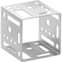 Cal-Mil 1607-7-55 7 inch Stainless Steel Squared Cube Riser