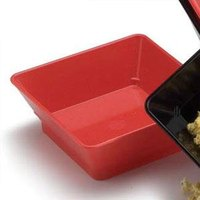 HS Inc. HS1053 7 inch Polyethylene Red Chile Square Plastic Basket - 24 / Case