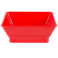HS Inc. HS1053 7 inch Polyethylene Red Chile Square Plastic Basket - 24/Case