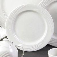 CAC GAD-21 Garden State 12 inch Bone White Round Porcelain Plate - 12/Case