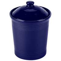 Homer Laughlin 571105 Fiesta Cobalt Blue Small 1 Qt. Canister with Cover - 2/Case