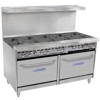 Bakers Pride Restaurant Series 60-BP-10B-S26 Liquid Propane 10 Burner Range with Two Standard 26 inch Ovens