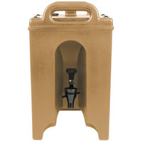 Cambro 100LCD157 Camtainers® 1.5 Gallon Coffee Beige Insulated Beverage Dispenser